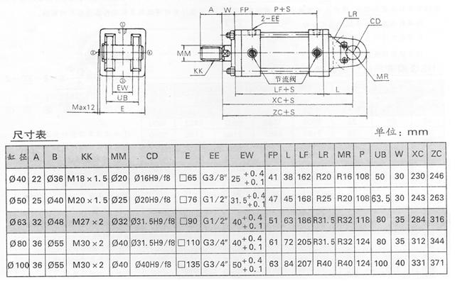 ygq系列油缸图片